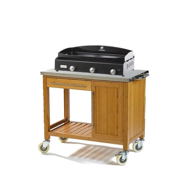 ensemble plancha gaz le marquier baia 375 acier sur. Black Bedroom Furniture Sets. Home Design Ideas