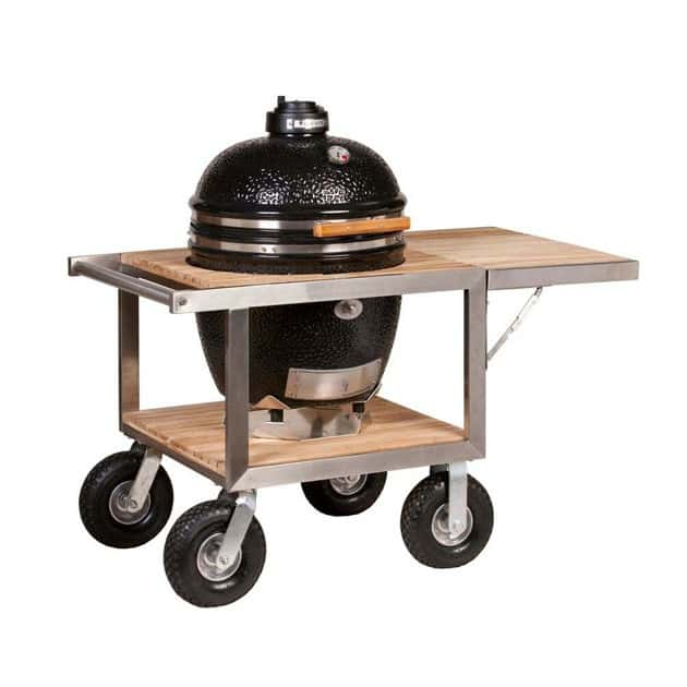 Barbecue Charbon Kamado Monolith sur Buggy + Tablette