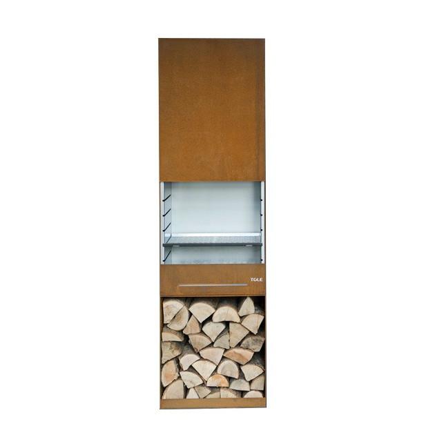Barbecue à bois K60 TOLE 60 x 190 cm