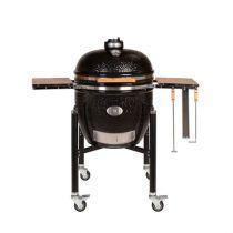 Barbecue Charbon Kamado Monolith Le Chef Noir sur chariot