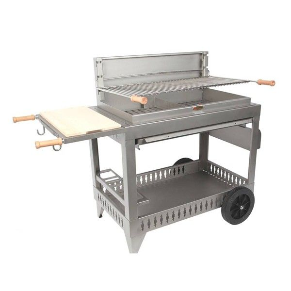 barbecue charbon le marquier iholdy inox avec chariot. Black Bedroom Furniture Sets. Home Design Ideas
