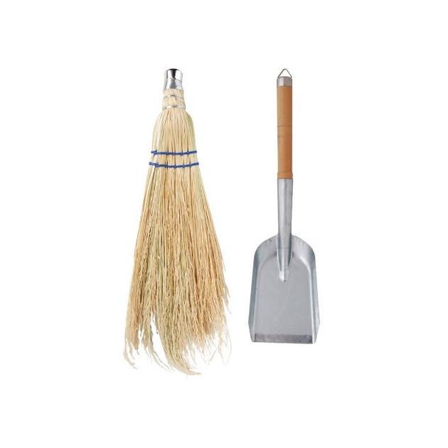 Pelle et balayette Esschert pour cheminée ou braséro