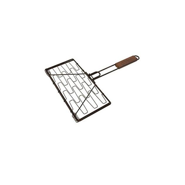 Grille flexible en fil d'acier pour barbecue charbon ou gaz