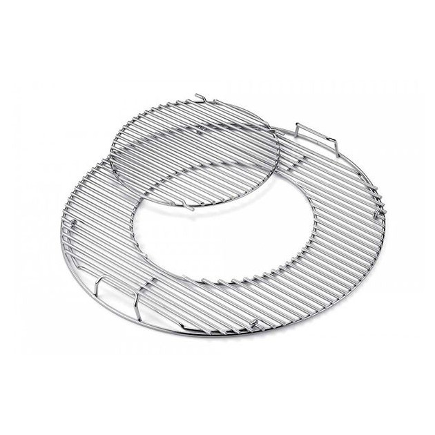 Grille de cuisson inox Weber Gourmet System Barbecue Charbon 57 cm