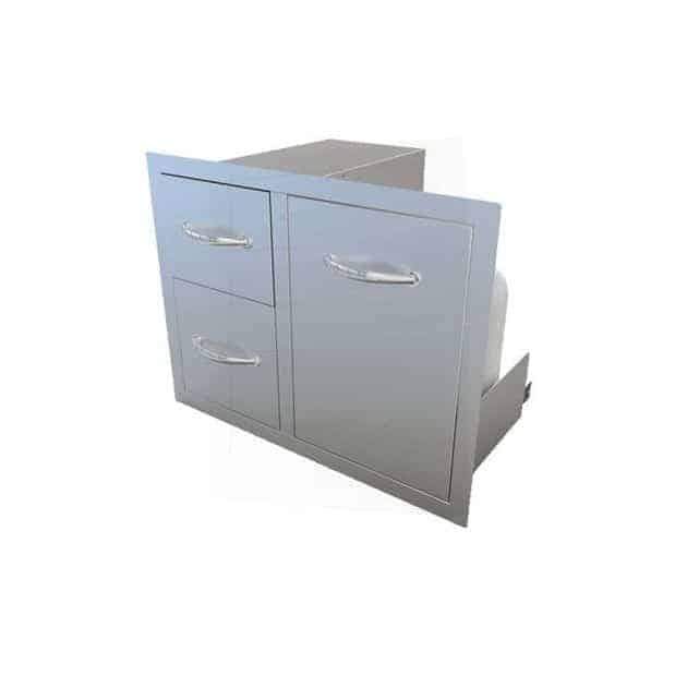 Combo tiroir double avec porte 76 cm Sunstone
