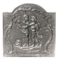 Plaque fonte Les 2 amours 46 x 46 cm