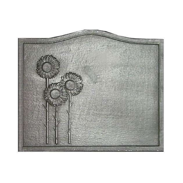 Plaque fonte Les 3 tournesols 60 x 50 cm