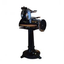 Trancheuse manuelle Wismer retro noir 300mm avec pied et tablette