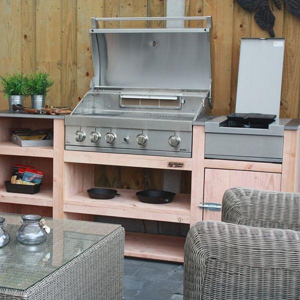 Barbecue avec desserte Elite Barbecue et plancha