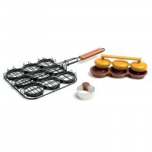 Kit découpe, presse et grill pour mini burgers