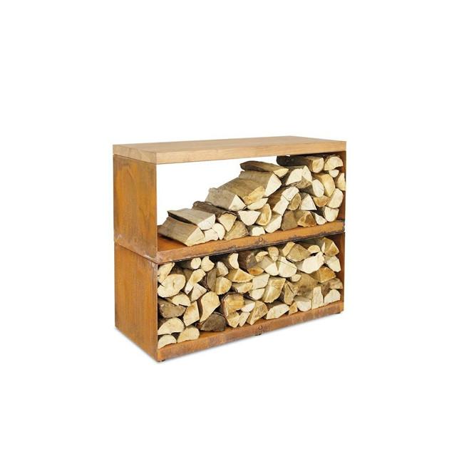 Rangement à bois acier Ofyr 45 x 100 x 88 cm