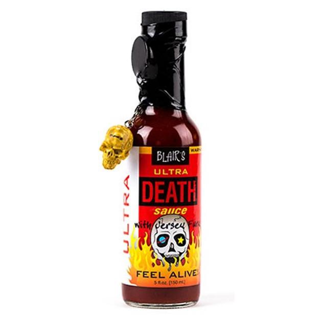 Sauce piquante Blair's ultra death avec Jersey fury