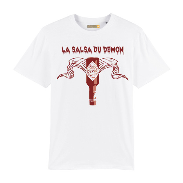 Tee-shirt Barbecue Républic La Salsa Du Démon Blanc XL