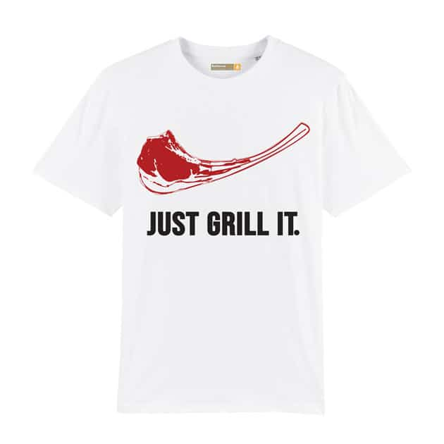 Tee-shirt Just Grill It Blanc L