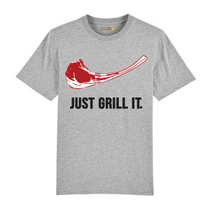 Tee-shirt Barbecue Republic Just Grill It Gris L