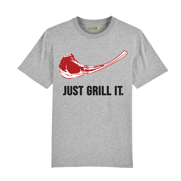 Tee-shirt Just Grill It Gris L