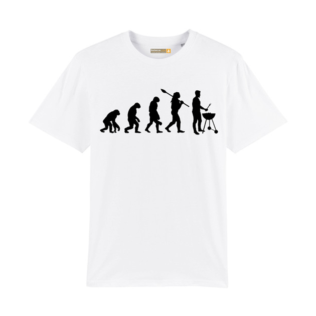 Tee-shirt Barbecue Républic Evolution Blanc L