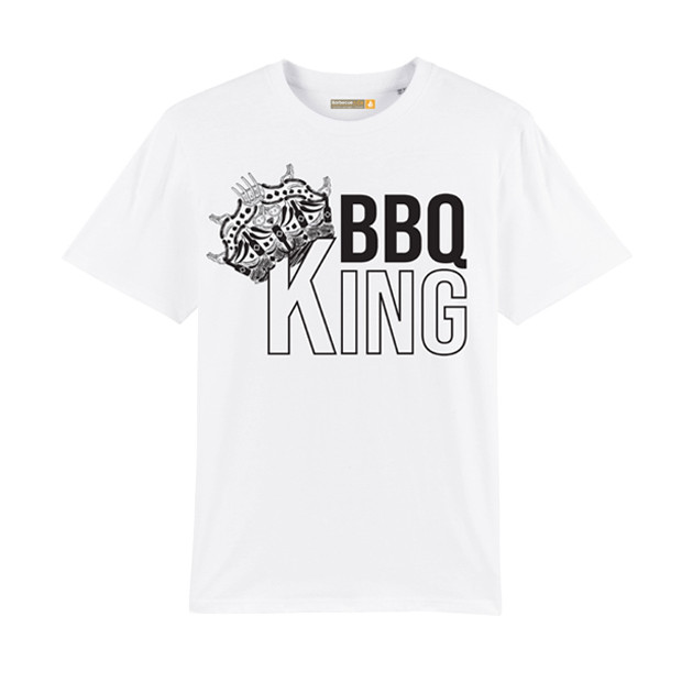 Tee-shirt Barbecue Républic BBQ King Blanc M