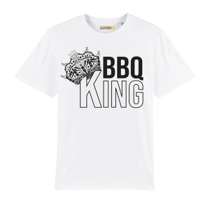 T-shirt Barbecue Republic Blanc BBQ King XL