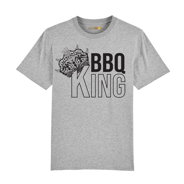 Tee-shirt Barbecue Républic BBQ King Gris M