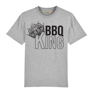 T-shirt Barbecue Republic Gris BBQ King XL