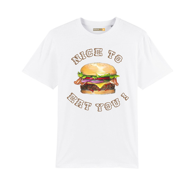 Tee-shirt Barbecue Républic Nice To Eat You Blanc L