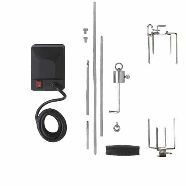 Kit rôtisserie Deluxe pour barbecue gaz Napoléon Rogue 625