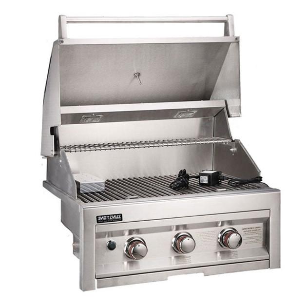Barbecue gaz encastrable 3 feux SUNSTONE SUN3B-LP