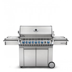 Barbecue gaz naturel sur chariot Napoleon Pro 665 infrarouge inox