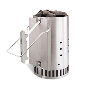 Cheminée d'allumage barbecue charbon Weber Rapidfire gris