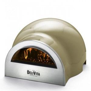 Four à pizza bois à poser Delivita vert olive