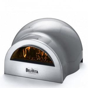 Four à pizza bois à poser Delivita Gris