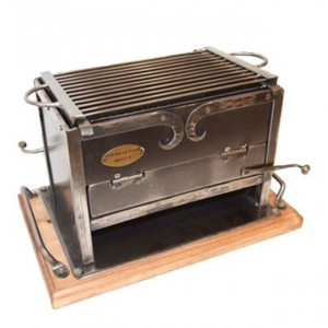 Barbecue de table charbon Forge de Megève 20x30 cm