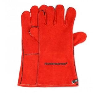 Gants de protection Feuermeister cuir rouge taille M