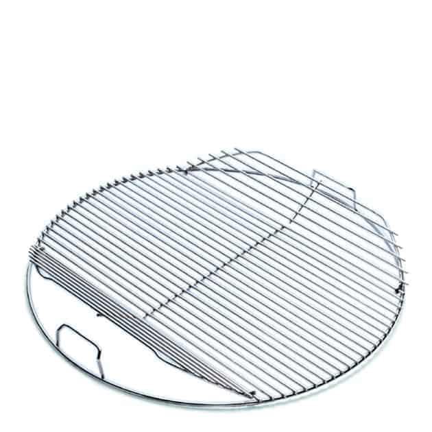 Grille de cuisson articulée barbecue charbon Weber 57 cm chrome