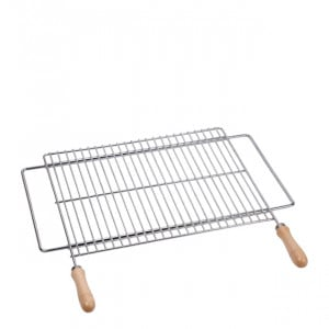 Grille extensible barbecue 70/80 x 40 cm inox