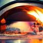 Four à pizza bois Fontana Mangiafuoco rouge à poser