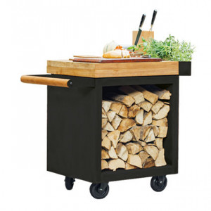 Table Ofyr Pro 65 Black bois de teck