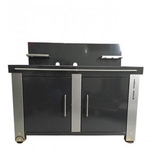Table roulante fermée plancha Forge Adour 75 gris métal/orage