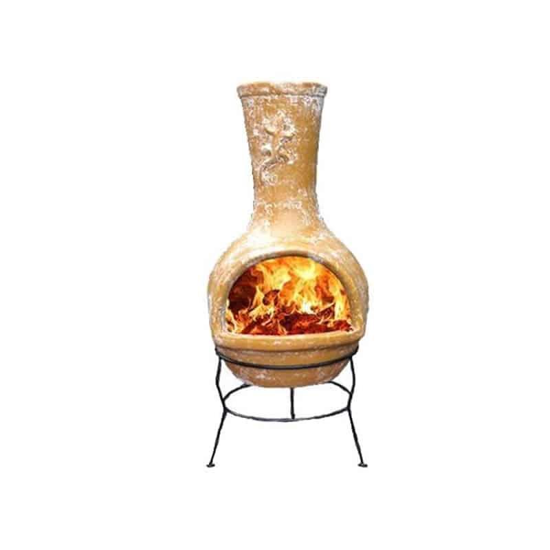 Chenet porte bûches brasero en fonte pour cheminée et four pizzeria