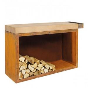 Rangement à bois sous plan de travail Ofyr 45-135-88 bois