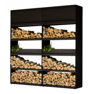 Wood Storage Ofyr Black 200