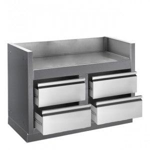 Module rangement Napoleon modèle Oasis pour barbecue gaz encastrable  PRO825