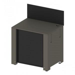 Module plancha avec porte et crédence ENO acier galvanisé gris