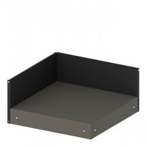 Module d'angle et crédence ENO HPL acier gris taupe