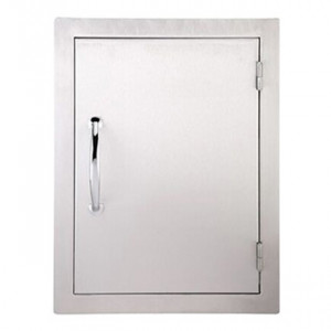 Porte simple verticale réversible Sunstone PM 59 cm inox