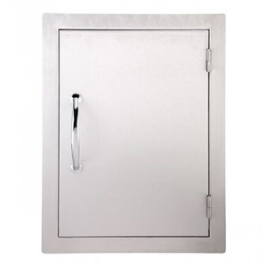 Porte simple verticale réversible Sunstone GM 69cm inox