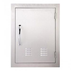 Porte simple verticale ventilée Sunstone OD 69cm inox