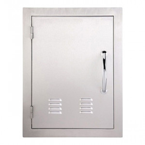 Porte simple verticale ventilée Sunstone OG GM 69 cm inox