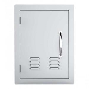 Porte simple verticale ventillée Sunstone OG PM 59 cm inox